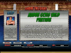 Andre the Giant слот автоматы slot-77.com Microgaming 2/5