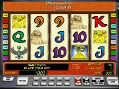 Pharaohs gold II слот автоматы slot-77.com Novomatic 1/5