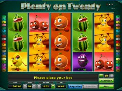 Plenty on twenty слот автоматы slot-77.com Greentube 1/5
