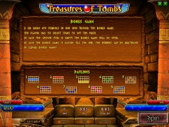 Treasures Of Tombs (bonus) слот автоматы slot-77.com Playson 3/5
