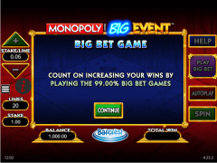 Monopoly Big Event слот автоматы slot-77.com William Hill Interactive 1/5