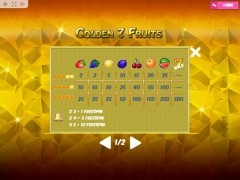 Golden7Fruits слот автоматы slot-77.com MrSlotty 5/5