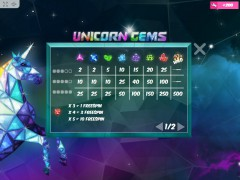 Unicorn Gems слот автоматы slot-77.com MrSlotty 3/5